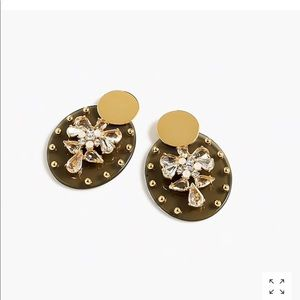 J.crew Lucite and crystal shield earring